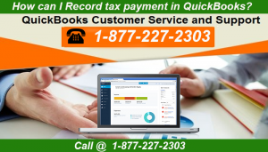 How can I Record tax payment in QuickBooks