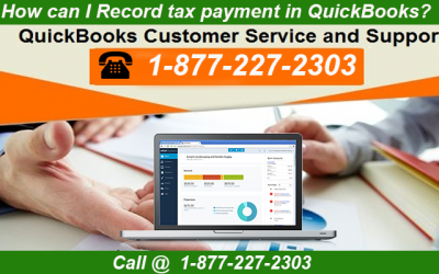 How can I Record Tax Payment in QuickBooks?