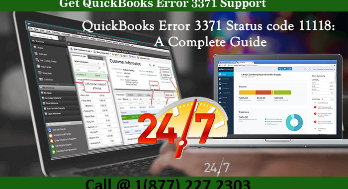 Get QuickBooks error 3371 support | Call 1(877) 227 2303