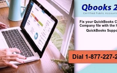 Fix your QuickBooks Corrupted Company file with the help of QuickBooks Support! Dial 1-877-227-2303
