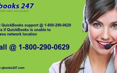 Call QuickBooks support @ 1-800-290-0629 to fix if QuickBooks is unable to access network location