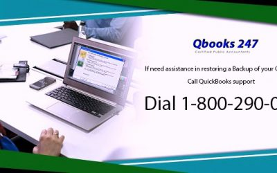 If need assistance in restoring a Backup of your Company File, Call QuickBooks support @ 1-800-290-0629